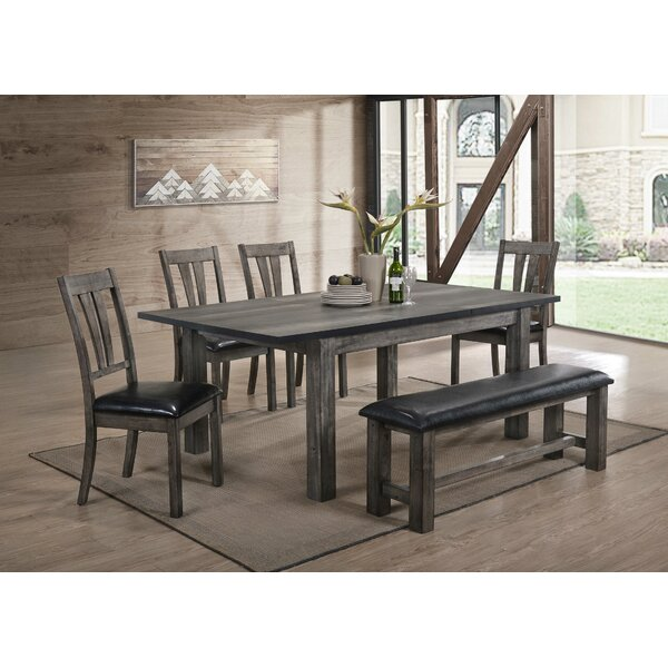 Okamoto 6 Piece Dining Set by Loon Peak