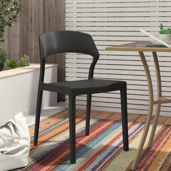 Annis Stacking Patio Dining Chair (Set of 2) by Zipcode Design