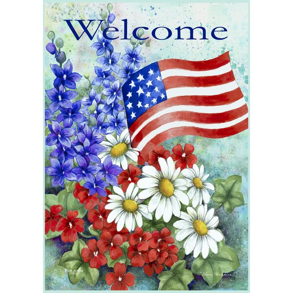 Patriotic Welcome 2 Sided Garden Flag By Toland Home Garden.