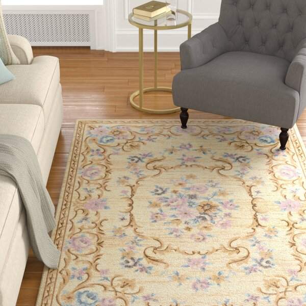 Pflugerville Cream Area Rug by Astoria Grand