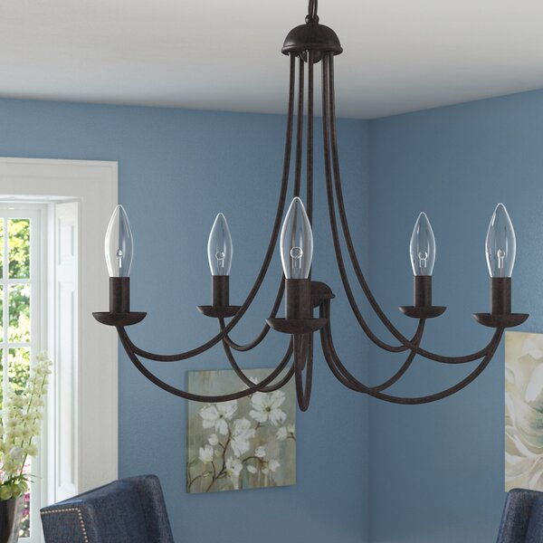 Emilia 5-Light Candle Style Classic / Traditional Chandelier By Three Posts