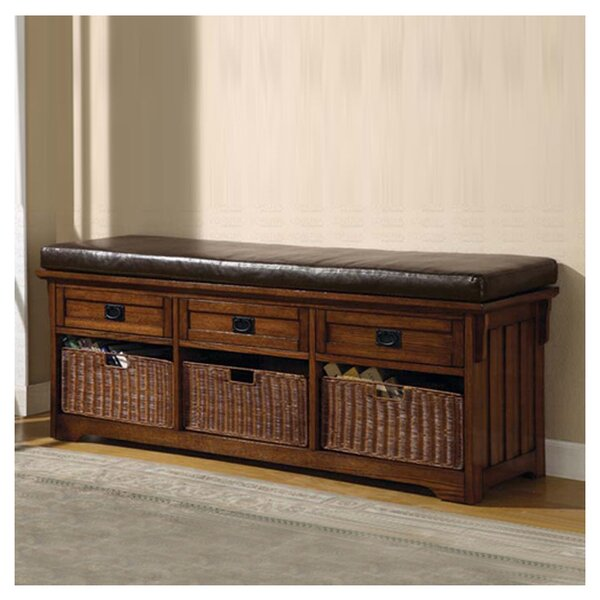 Upland Wooden Storage Bench by Wildon Home®
