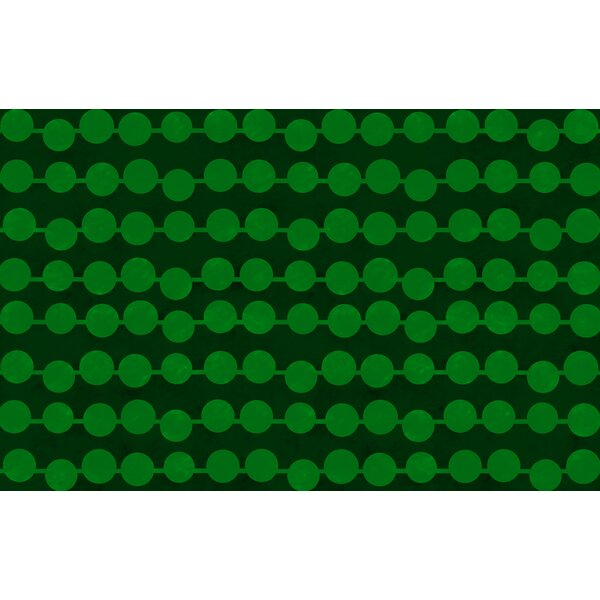 Line Dots Emerald Rug by Manual Woodworkers & Weavers