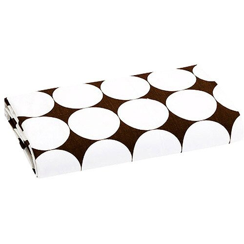 Dots Reverse Percale Fitted Crib Sheet by Bacati