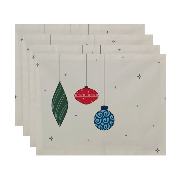 Light Bright Holiday Print Placemat (Set of 4) by The Holiday Aisle