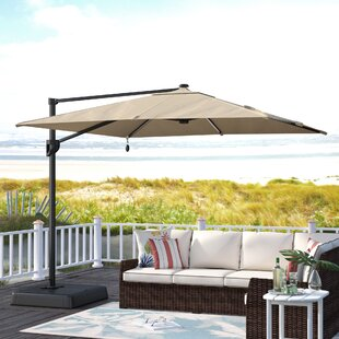 Gypsou 9.5' Square Lighted Umbrella by Bay Isle Home