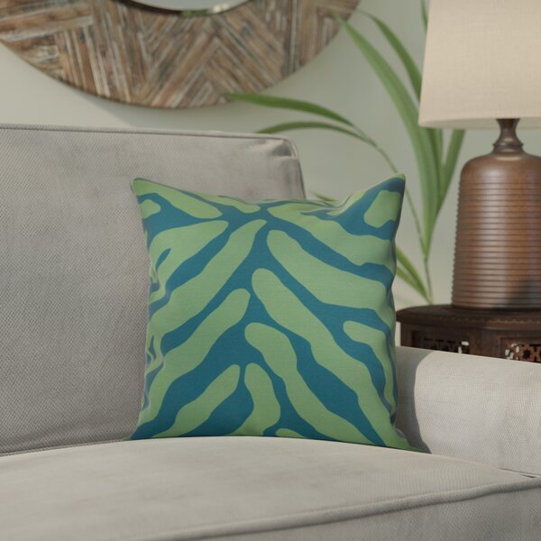 Kam Animal Striped Geometric Outdoor Throw Pillow by Bloomsbury Market