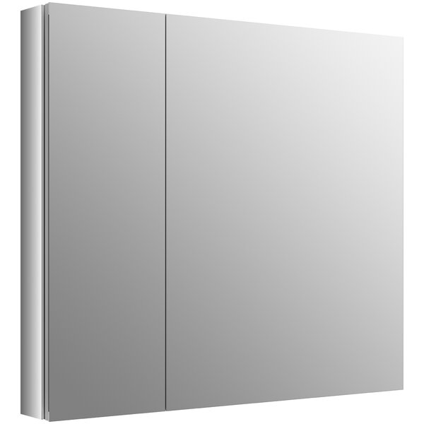 Verdera 34 x 30 Aluminum Medicine Cabinet with Adjustable Magnifying Mirror and Slow-Close Door by Kohler