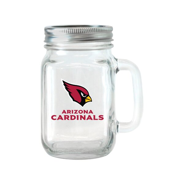 NFL Glass 16 oz. Mason Jar (Set of 2) by Boelter Brands