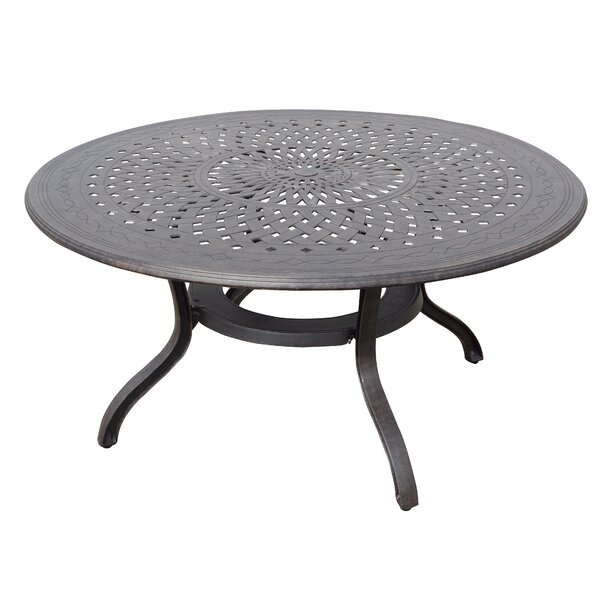 Kimble Cast Aluminum Dining Table by Darby Home Co