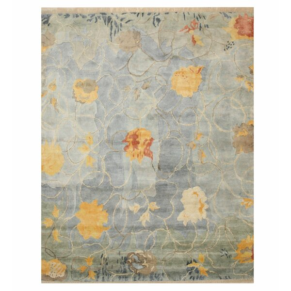 Phillis Art Hand-Knotted Blue Area Rug by August Grove
