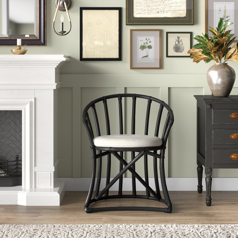 Cleary Windsor Back Arm Chair In Black