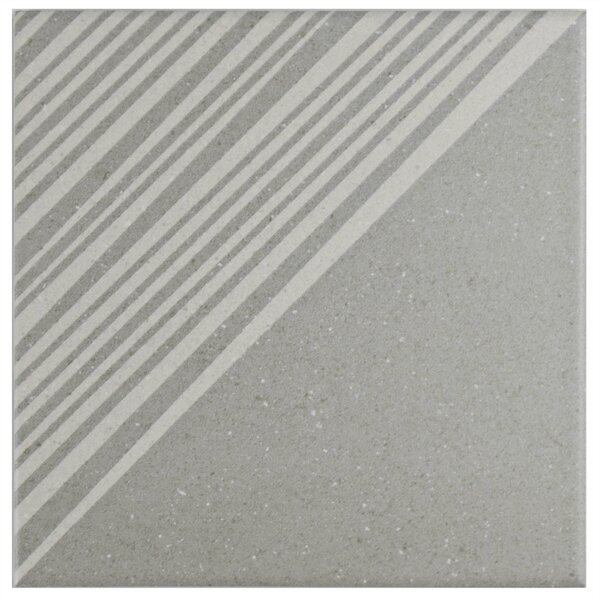 Heather 5.88 x 5.88 Porcelain Field Tile in Gray/White by EliteTile