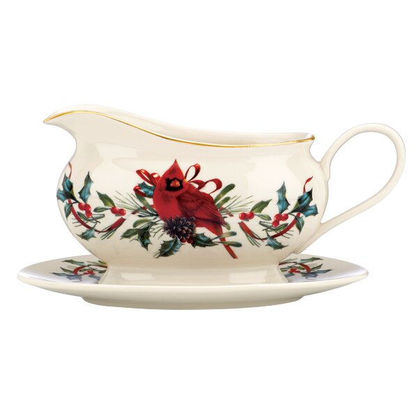 Winter Greetings Gravy Boat with Stand by Lenox