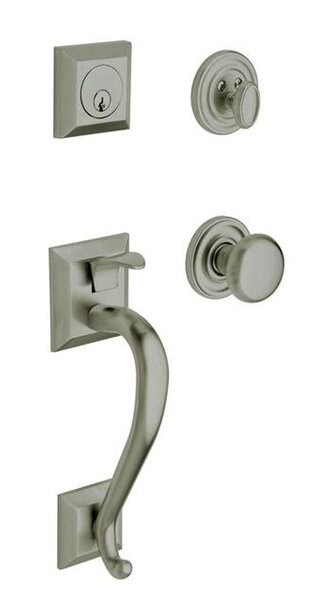 Madison Single Cylinder Handleset with Interior Knob and Sectional Trim by Baldwin
