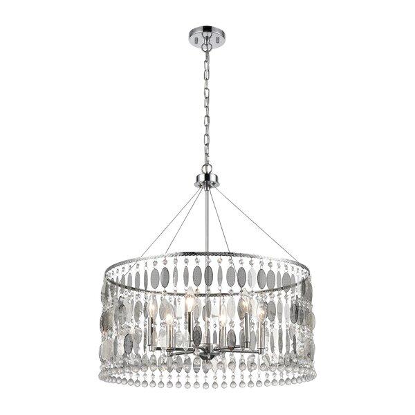 Lofgren 6 - Light Unique Geometric Chandelier By House Of Hampton