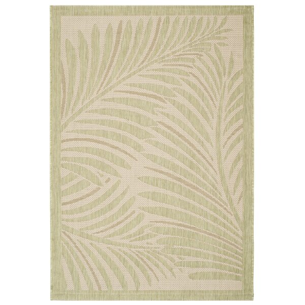 Bridgeville Tropic Palm Tan Area Rug by Bay Isle Home