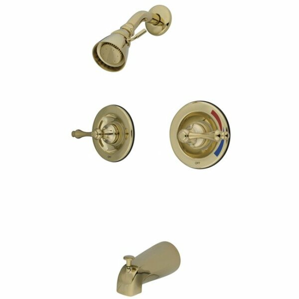 Heritage Pressure Balanced Temperature Control Tub and Shower Faucet with Twin Metal Lever Handles by Elements of Design Elements of Design