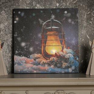 u0027Lanternu0027 Acrylic Painting Print on Canvas with LED Lights & Led Canvas | Wayfair