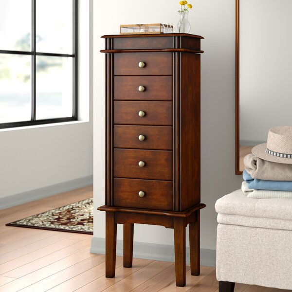 Maplewood Six Drawer Jewelry Armoire by Three Posts Three Posts