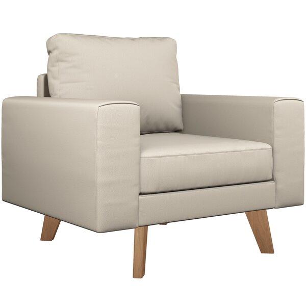 Binns Vegan Leather Armchair by Corrigan Studio
