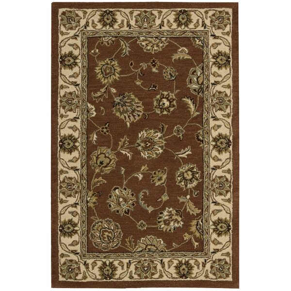 Donohoe Hand-Woven Brown/Ivory Area Rug by Charlton Home