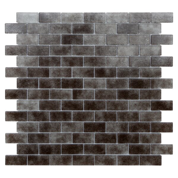 Quartz 0.75 x 1.63 Glass Mosaic Tile in Gray/Taupe by Kellani