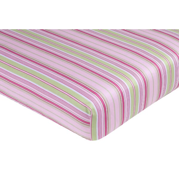 Jungle Friends Striped Fitted Crib Sheet by Sweet Jojo Designs