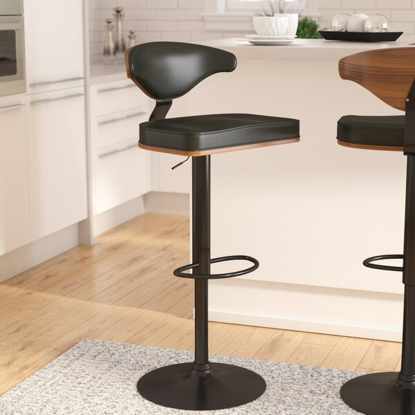 Atropos Adjustable Height Swivel Bar Stool by Wade Logan
