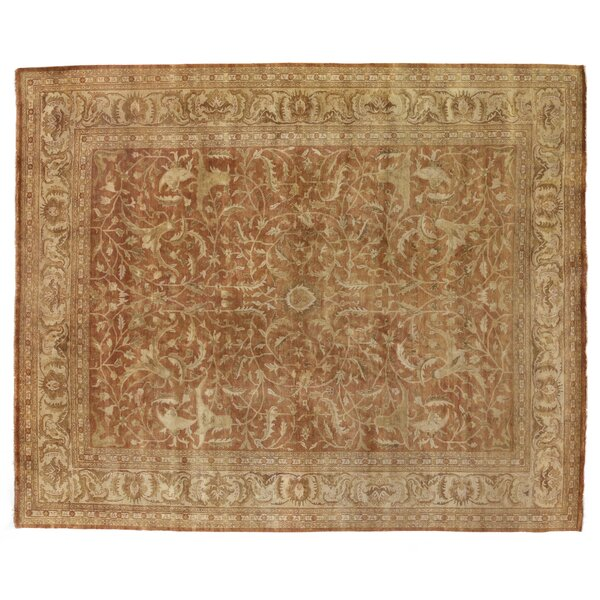 Sultanabad Hand Woven Wool Rust/Ivory Area Rug by Exquisite Rugs