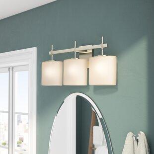 Buy clear Luzerne 3-Light Vanity Light By Brayden Studio