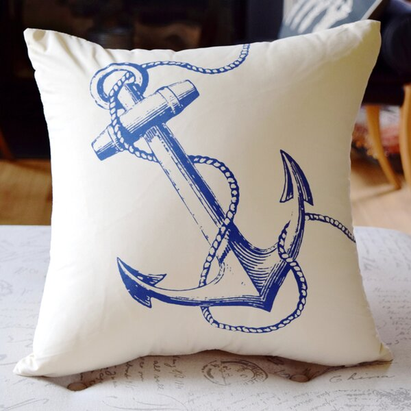 Costal Anchor Throw Pillow by Debage Inc.