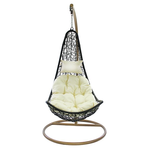 Fairlight Outdoor Wicker Plastic Half Moon Leaf Shape Porch Swing by Brayden Studio