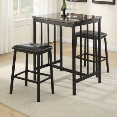 Kernville 3 Piece Counter Height Dining Set by A&J Homes Studio