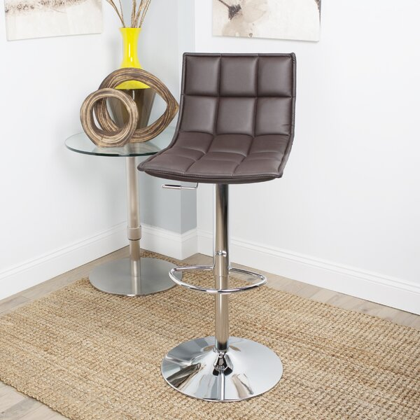 Fontanelle Adjustable Height Swivel Bar Stool by Orren Ellis
