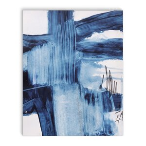 'Blue Abstract' Painting Print on Canvas by Latitude Run