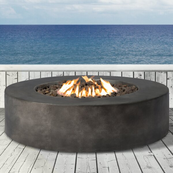 Santiago Concrete Propane/ Natural Gas Fire Pit Table by Living Source International