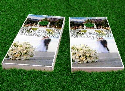 Wedding Flowers Cornhole Game (Set of 2) by Custom Cornhole Boards