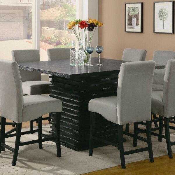 Mcguffin Sophisticated Wooden Counter Height Dining Table by Bloomsbury Market