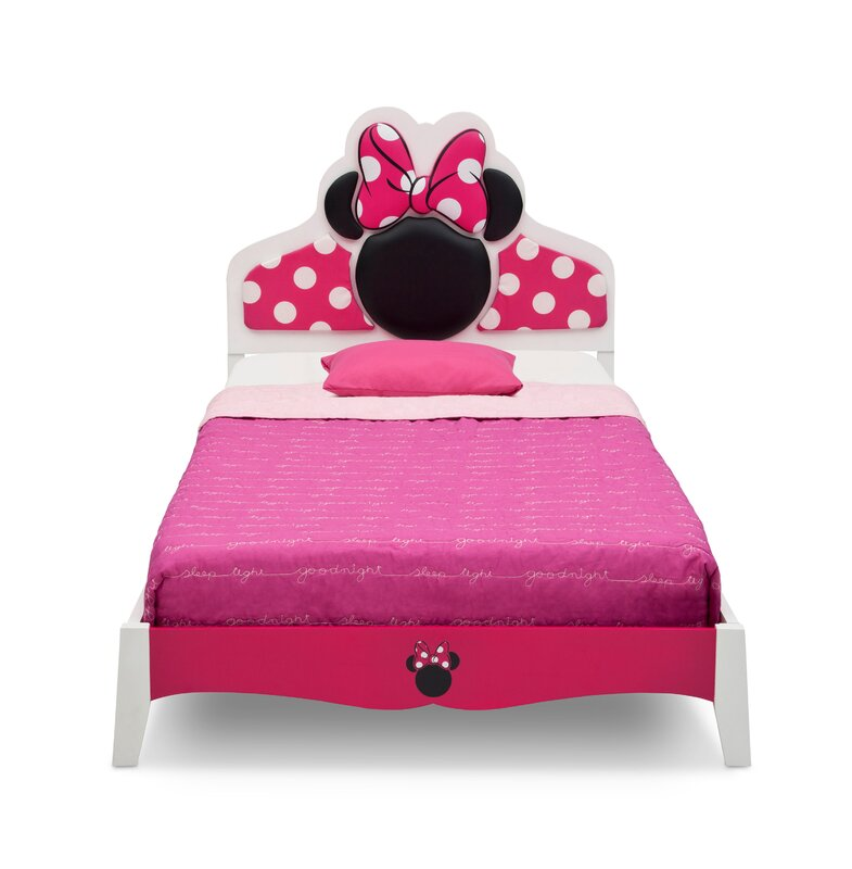 Perfect Disney Minnie Mouse Wood Twin Panel Bed