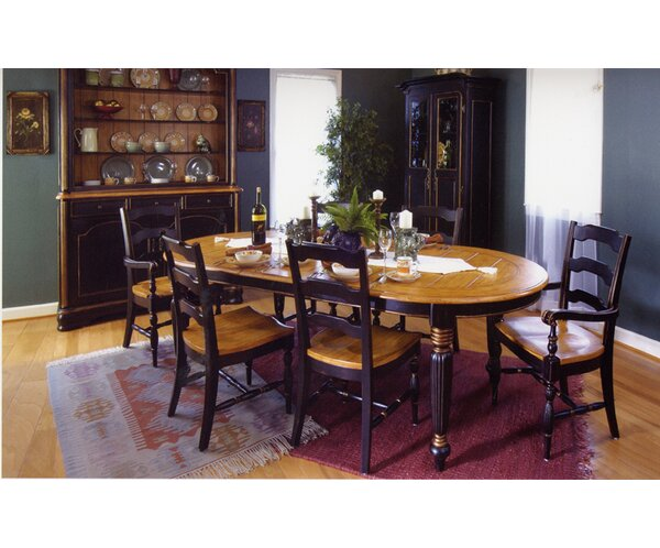 Spinelli Plank Top Solid Wood Dining Table by Bay Isle Home