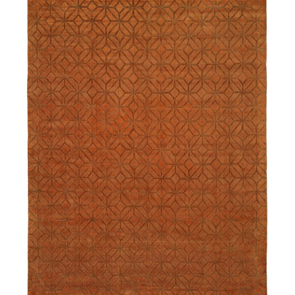 Handwoven Orange Area Rug by Wildon Home ®