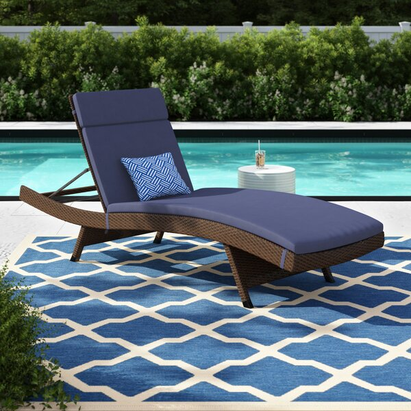 Bellview Reclining Chaise Lounge with Cushion (Set of 2) by Sol 72 Outdoor Sol 72 Outdoor