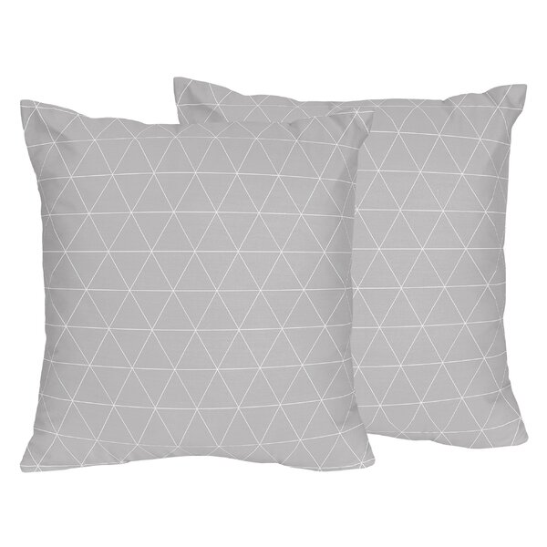 Mountains Triangle Indoor/Outdoor Decorative Accent Throw Pillow (Set of 2) by Sweet Jojo Designs