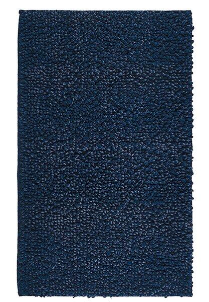 Munson Denim Twist Rectangle Egyptian-Quality Cotton Non-Slip Bath Rug