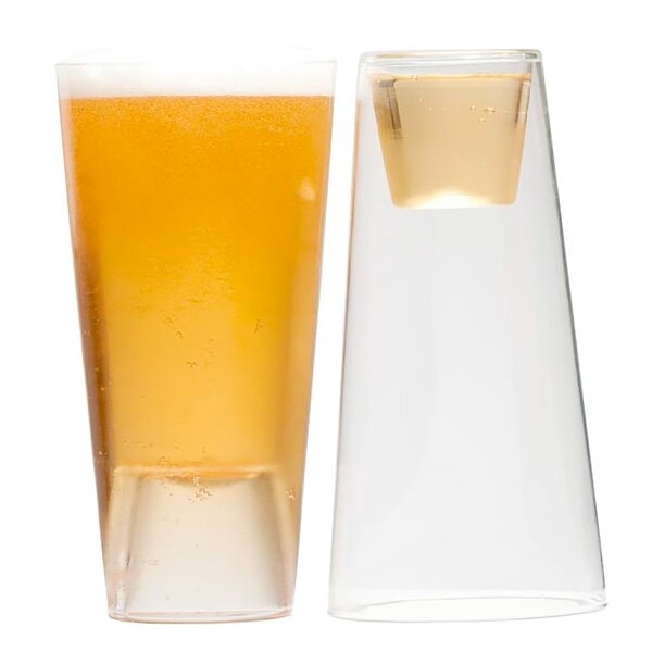 Beer Shot Light 16 oz. Glass (Set of 4) by Highwave Inc.