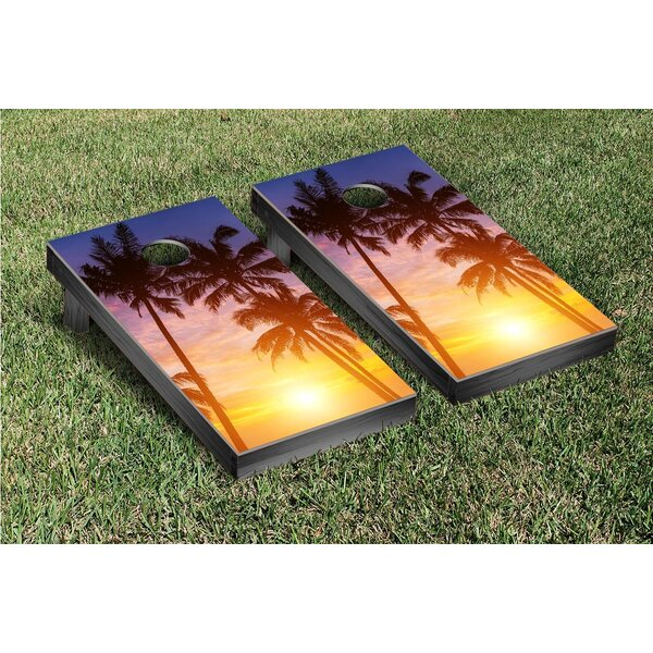 Palm Tree Sunrise Cornhole Game Set by Victory Tailgate