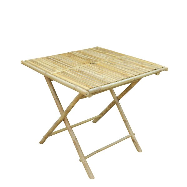 Latsia  Folding  Solid Wood  Dining Table by Bay Isle Home