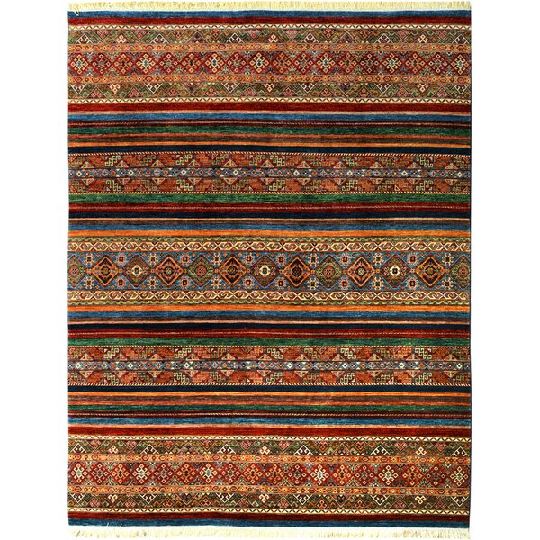One-of-a-Kind Abita Hand-Knotted Wool Brown/Red Area Rug by Isabelline