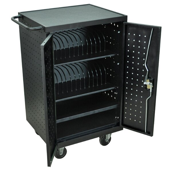 Charging Stations 24-Compartment Tablet Storage Cart by Luxor